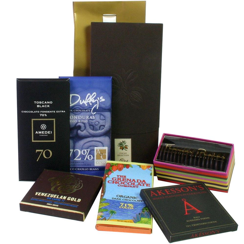 dunkle Schokolade, Zartbitterschokolade, Edelschokolade, dark chocolate, chocolat noir,                                                                                                                  -  - Chocolats-De-Luxe