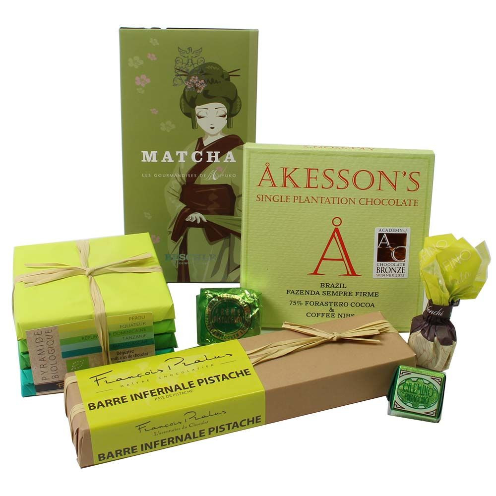 Set de regalo chocolate verde -  - Chocolats-De-Luxe
