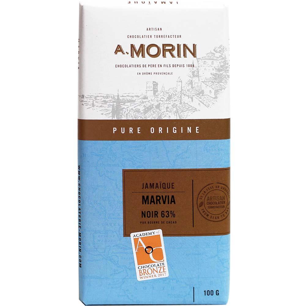 63% Jamaique Marvia Schokolade - Tablette de chocolat, France, chocolat français, Chocolat avec sucre - Chocolats-De-Luxe