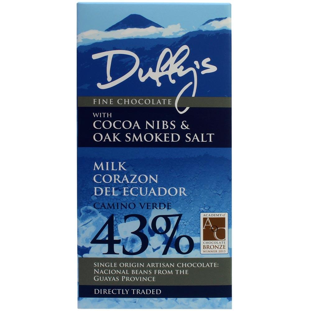 Chocolat au lait avec éclats de cacao et sel fumé au chêne -  - Chocolats-De-Luxe