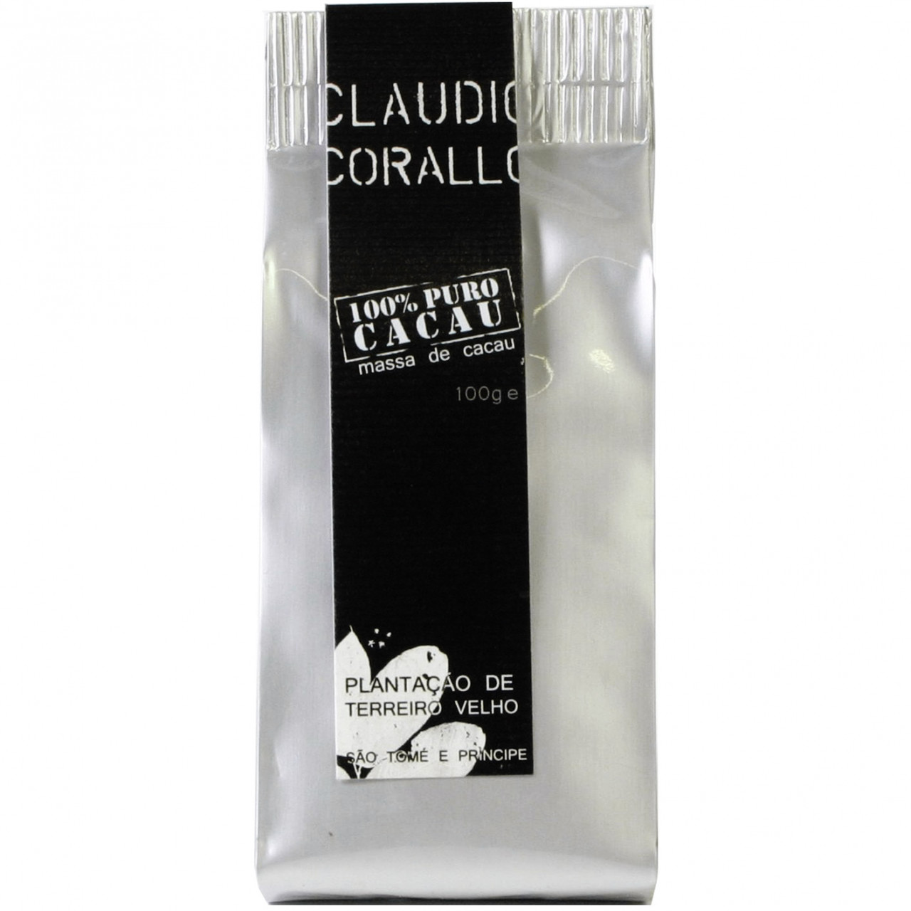 Claudio Corallo Sao Tomé dunkle Schokolade 100% dark chocolate chocolat noir                                                                                                                             - Bar of Chocolate, sugar free chocolate, Sao Tomé, Sao Tomé Chocolate, plain pure chocolate without ingredients - Chocolats-De-Luxe