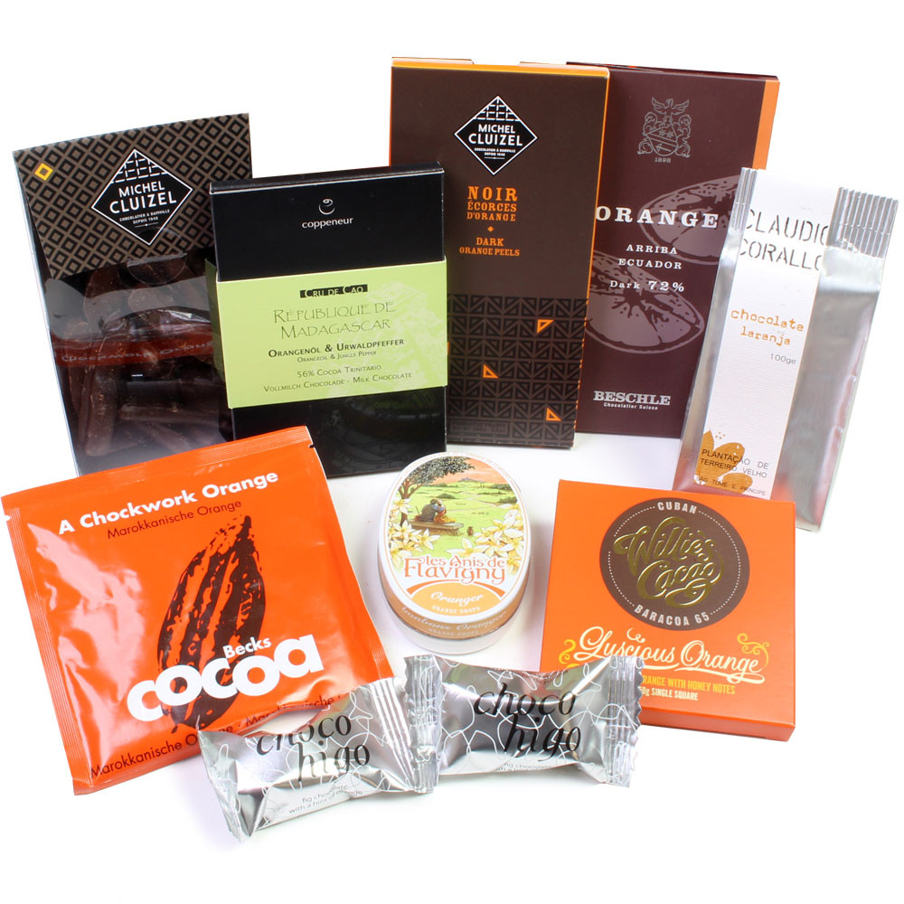 Orange und Schokolade,Geschenk, chocolat noir, dark chocolate, cigar, cigarre, fruit -  - Chocolats-De-Luxe