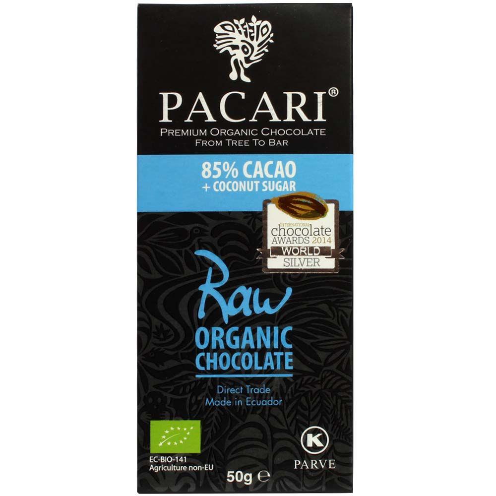 85% Ecuador crudo con azúcar de flor de coco - Barras de chocolate, chocolate crudo, Chocolate Kosher, chocolate sin gluten, chocolate vegano, Ecuador, chocolate ecuatoriano, Cioccolato con zucchero di cocco - Chocolats-De-Luxe