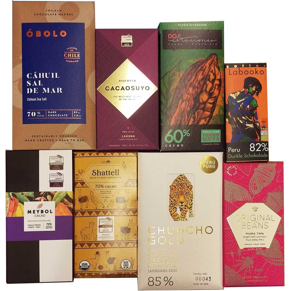 Schokoladen Probierpaket aus Peru -  - Chocolats-De-Luxe