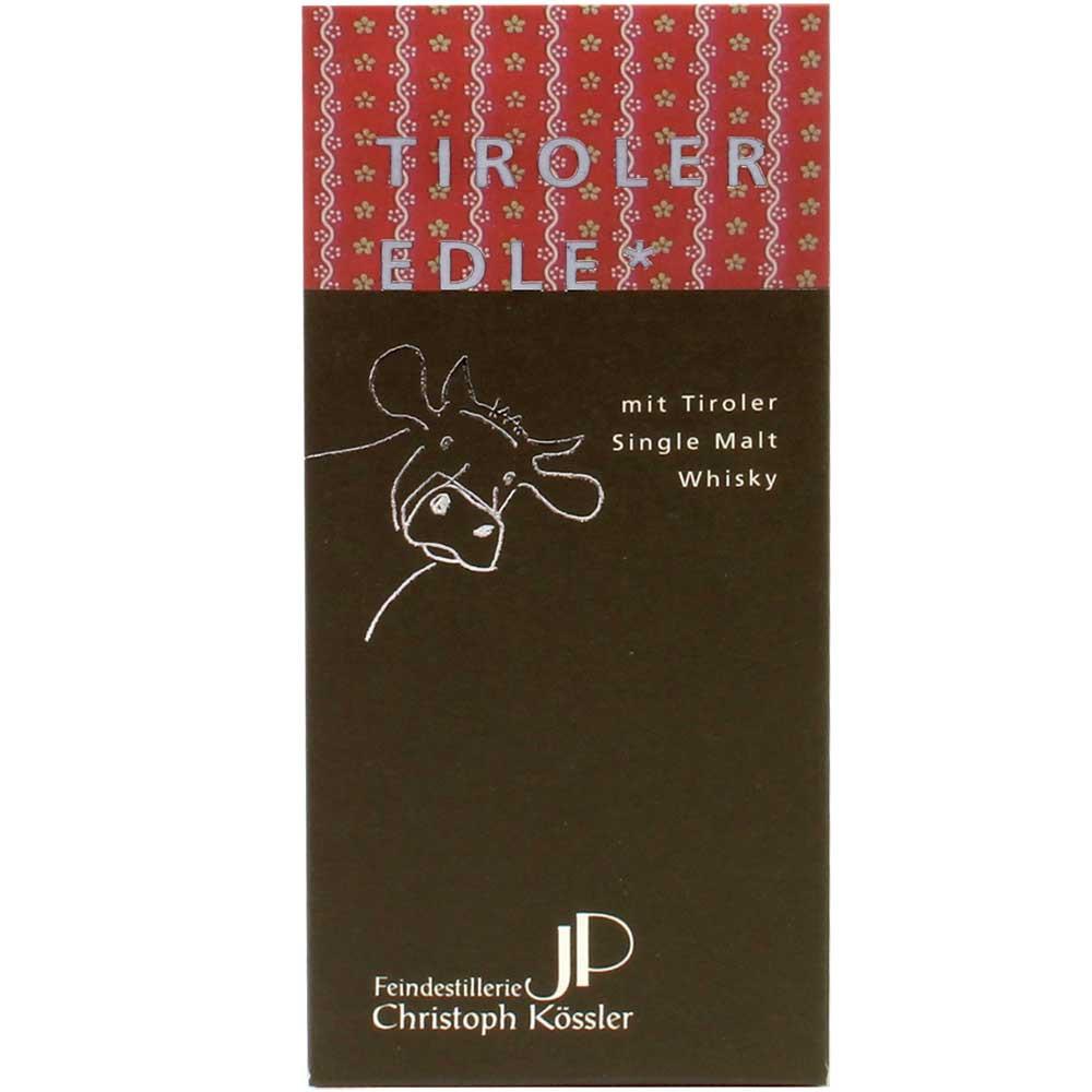 Chocolat noir 60% avec Whisky Edition Kössler - Tablette de chocolat, avec l'alcool, Autriche, chocolat autrichien, chocolat au whisky - Chocolats-De-Luxe