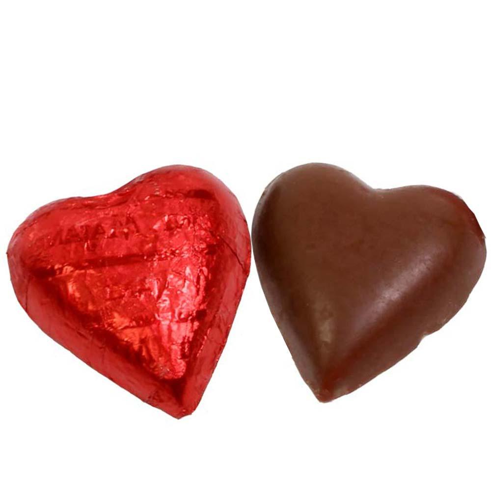 Corazón rojo chocolate con leche - $seoKeywords- Chocolats-De-Luxe