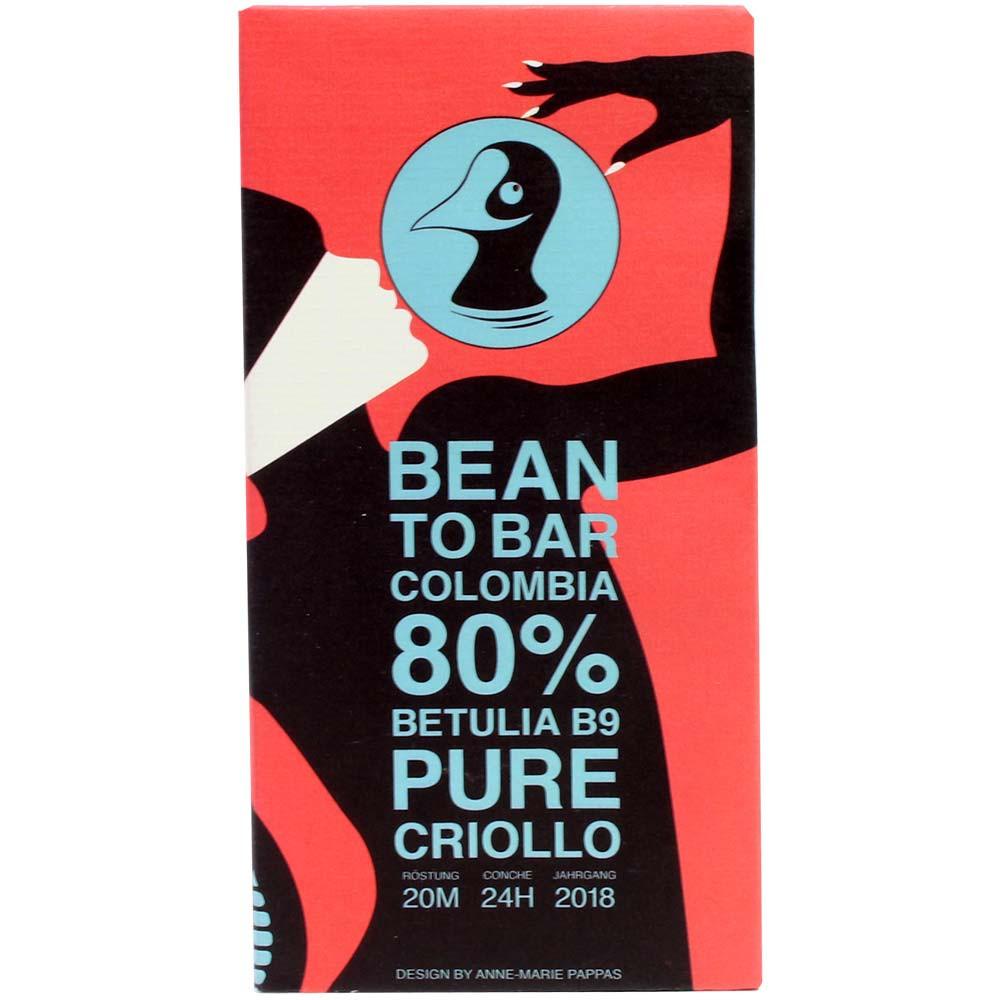Colombia 80% Betulia B9 Pure Criollo - pure chocolade