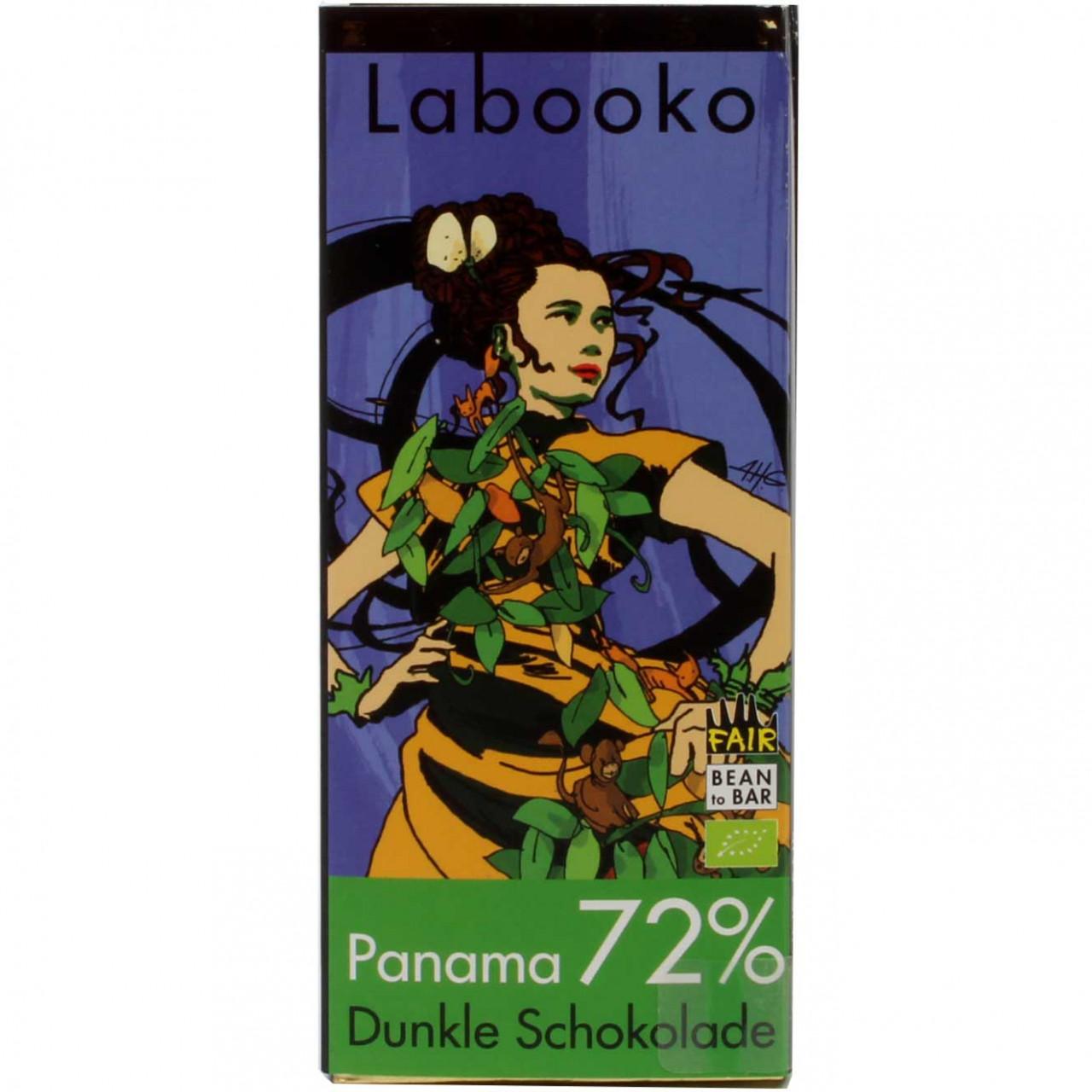 Labooko 72% organic chocolate Panama, vegan - Bar of Chocolate, alcohol free Chocolate, gluten free chocolate, laktose free chocolate, vegan chocolate, Austria, austrian chocolate, Chocolate with sugar - Chocolats-De-Luxe
