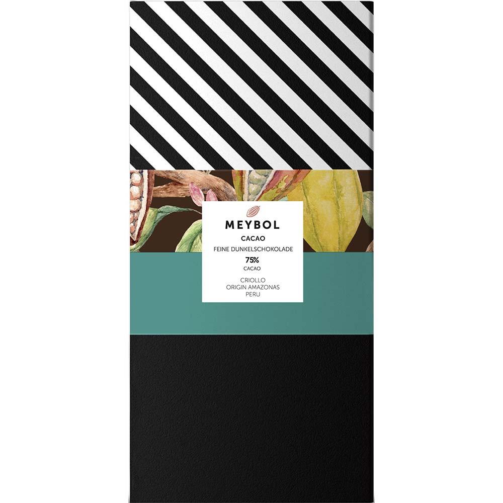 """Criollo Amazonas"" 70% chocolate from the Amazon region in Peru - Bar of Chocolate, gluten free chocolate, laktose free chocolate, vegan chocolate, without artificial flavourings / additives, Peru, peruvian chocolate, plain pure chocolate without ingredients - Chocolats-De-Luxe"