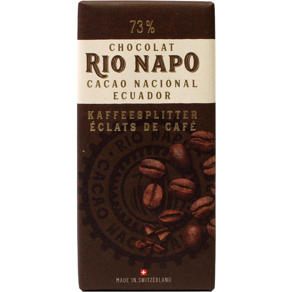 Grand Cru forest chocolate 73% coffee dark chocolate - Bar of Chocolate, Switzerland, Swiss chocolate, Chocolate with coffee - Chocolats-De-Luxe