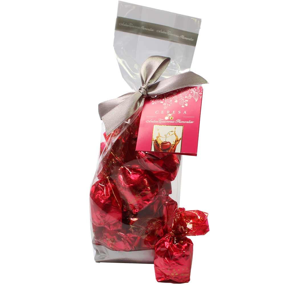 Ceresa - Schokoladenpralinen mit ganzer Kirsche im Beutel - Pralinen, mit Alkohol, Italien, italienische Schokolade, Schokolade mit Alkohol - Chocolats-De-Luxe