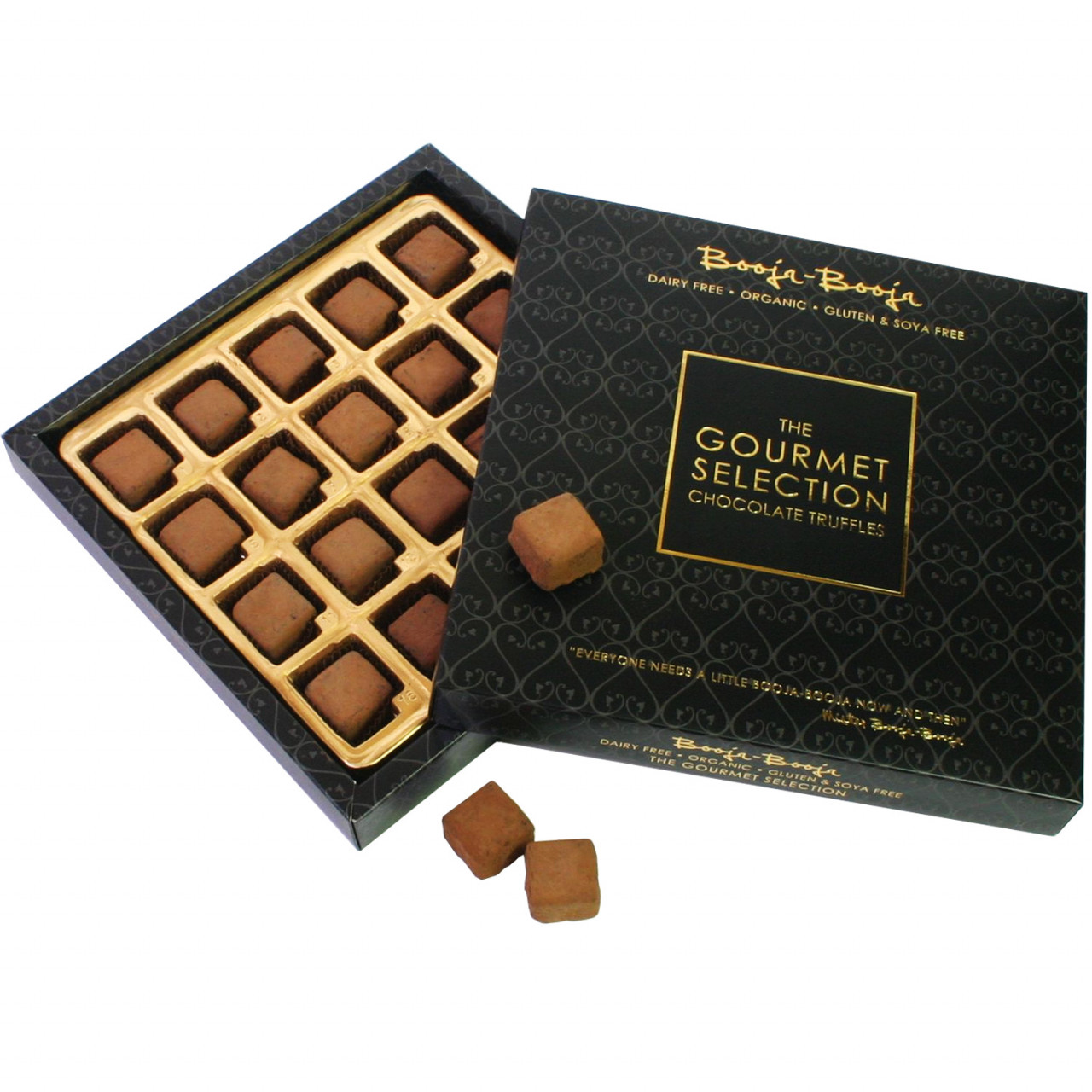 dunkle Schokolade, truffes, truffles, Pralinen, Haselnuss, Ingwer, Espresso, Bananen Toffee, Champagner Trüffel                                                                                          - Pralines, Chocolat ans protéines de lait, chocolate sans huile de palme, chocolat sans gluten, chocolat sans lactose, chocolat sans soja, chocolat végétalien, Angleterre, chocolat anglais, Chocolat au caramel - Chocolats-De-Luxe