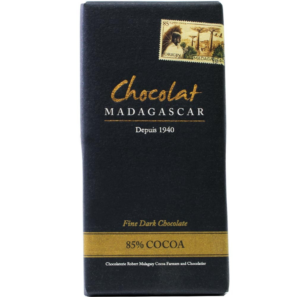 Chocolat Madagascar, Zartbitterschokolade, Dunkle Schokolade, Single Origin Madagaskar, dunkle Schokolade 85%, - Chocoladerepen, glutenvrije chocolade, Madagaskar, Malagasy chocolade - Chocolats-De-Luxe