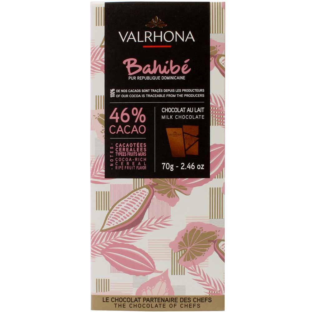 46% Bahibé Republique Dominicaine - melkchocolade - Chocoladerepen, geschikt voor vegetariërs, Frankrijk, Franse chocolade - Chocolats-De-Luxe