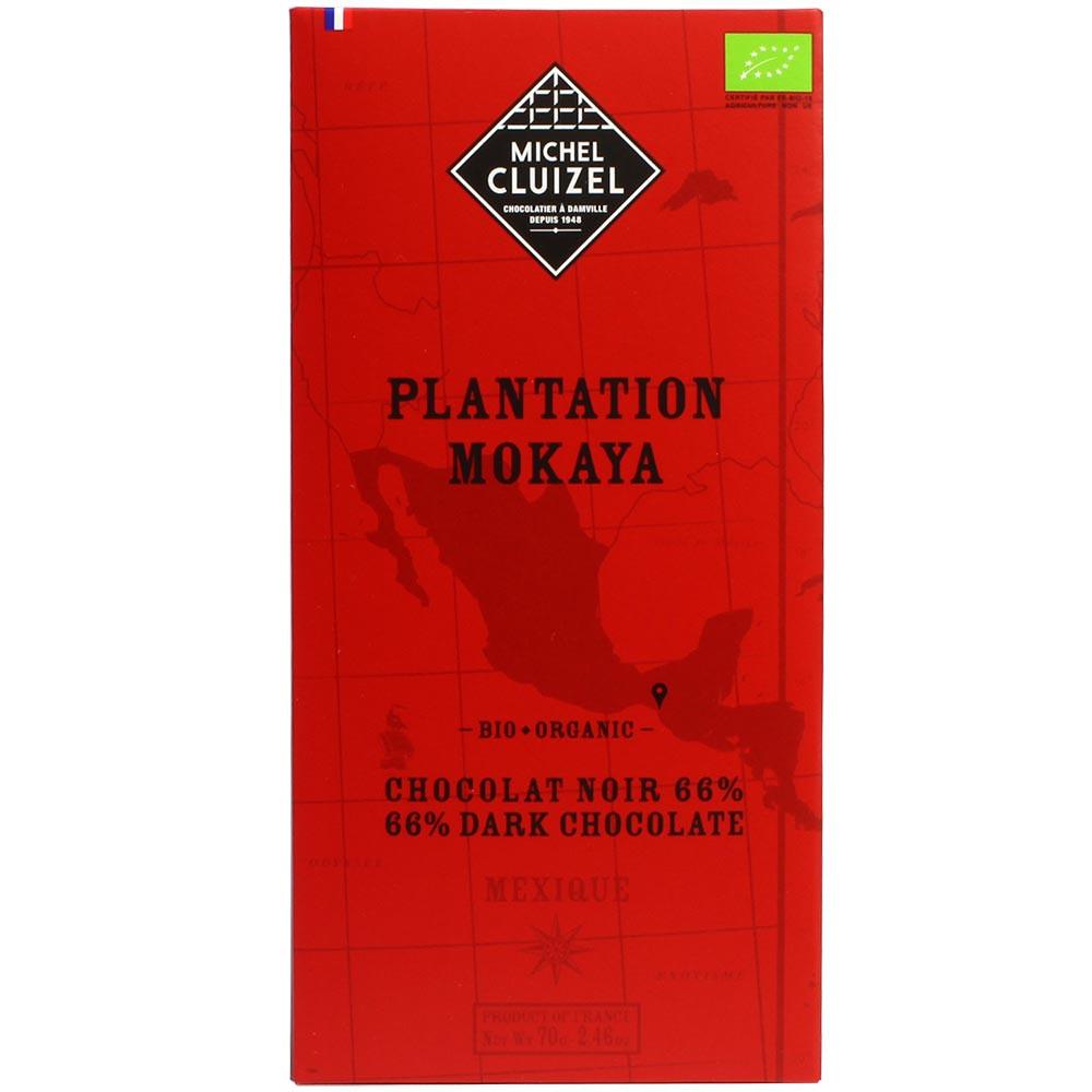 "Plantation ""Mokaya"" México 66% chocolate oscuro orgánico - Barras de chocolate, chocolate sin lecitina, chocolate sin soja, vegan-amigable, Francia, chocolate francés, Chocolate con azúcar - Chocolats-De-Luxe"