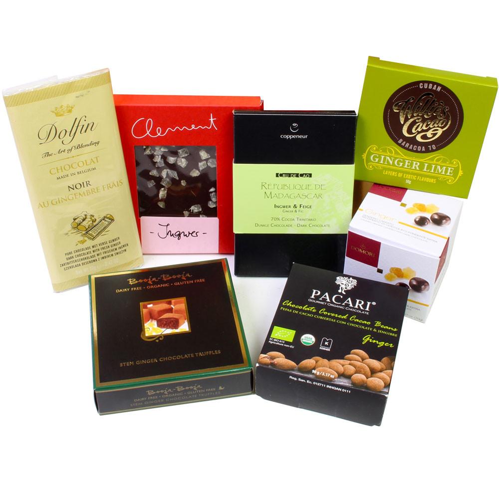 Ingwer, Schokolade, Trinkschokolade, Tafelschokolade, Kamin, dark chocolate, chocolat noir, ginger, gingembre, - Chocolat au gingembre - Chocolats-De-Luxe