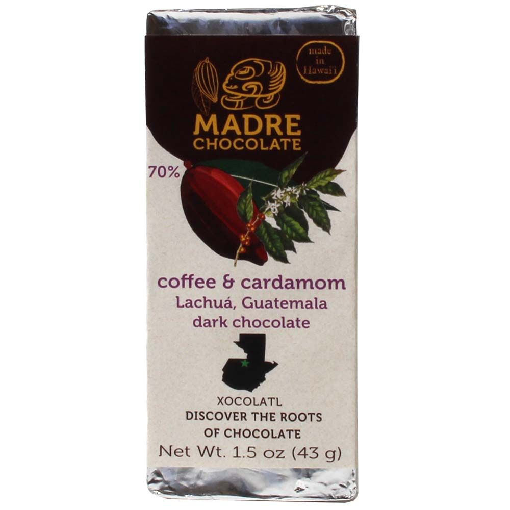 Madre Chocolate 70% Coffee and Cardamom | chocolats-de-luxe.de - $seoKeywords- Chocolats-De-Luxe