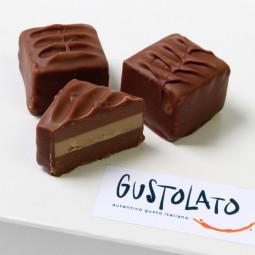 Cremino Nougat Pralinen aus weisser und Milch Schokolade