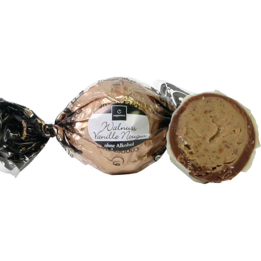 Nougat, walnut, Baumnuss, noix, bonbon, - SweetFingerfood, Chocolate sin alcohol, Alemania, chocolate alemán, Chocolate con nuez - Chocolats-De-Luxe