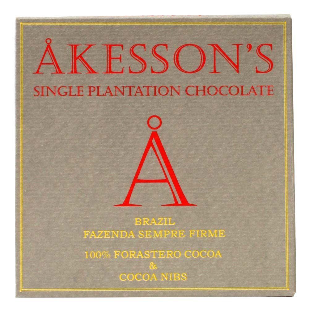 Akesson 100% Forastero Cocoa and Nibs Fazenda Sempre Firme