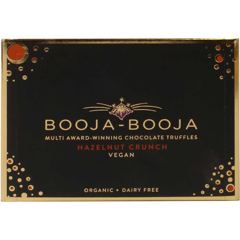 Hazelnut Crunch Chocolate Truffels - delicious organic hazelnut truffles - Pralines, Truffle, gluten free, laktose free, milk protein free, soy free chocolate, vegan chocolate, England, english chocolate, chocolate with hazelnut, hazelnut chocolate - Chocolats-De-Luxe