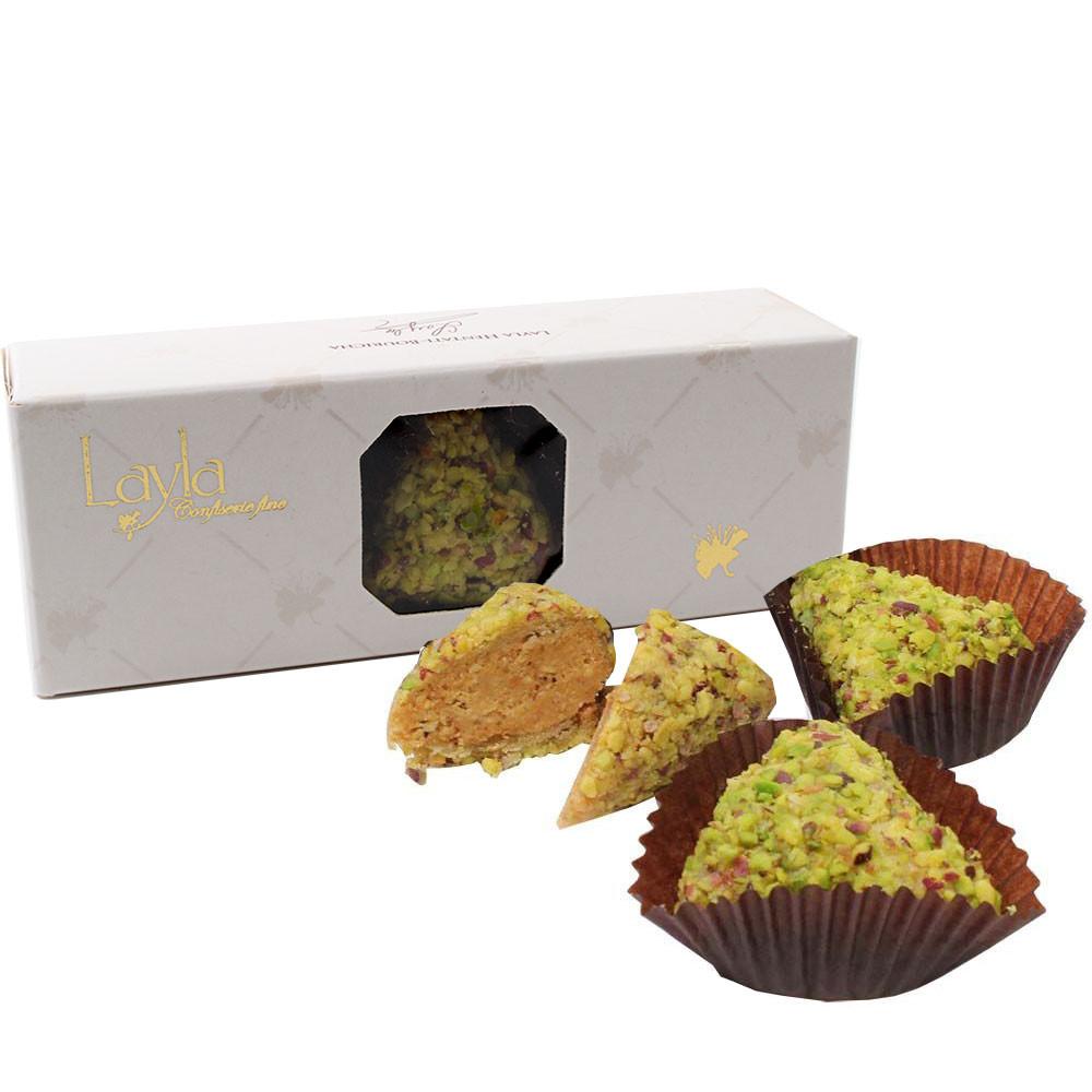 Samsa - Pasticceria Nocciola e Pistacchio - Cioccolatini, Cioccolato senza alcol, Tunisia, Cioccolato tunisino, cioccolato al pistacchio - Chocolats-De-Luxe