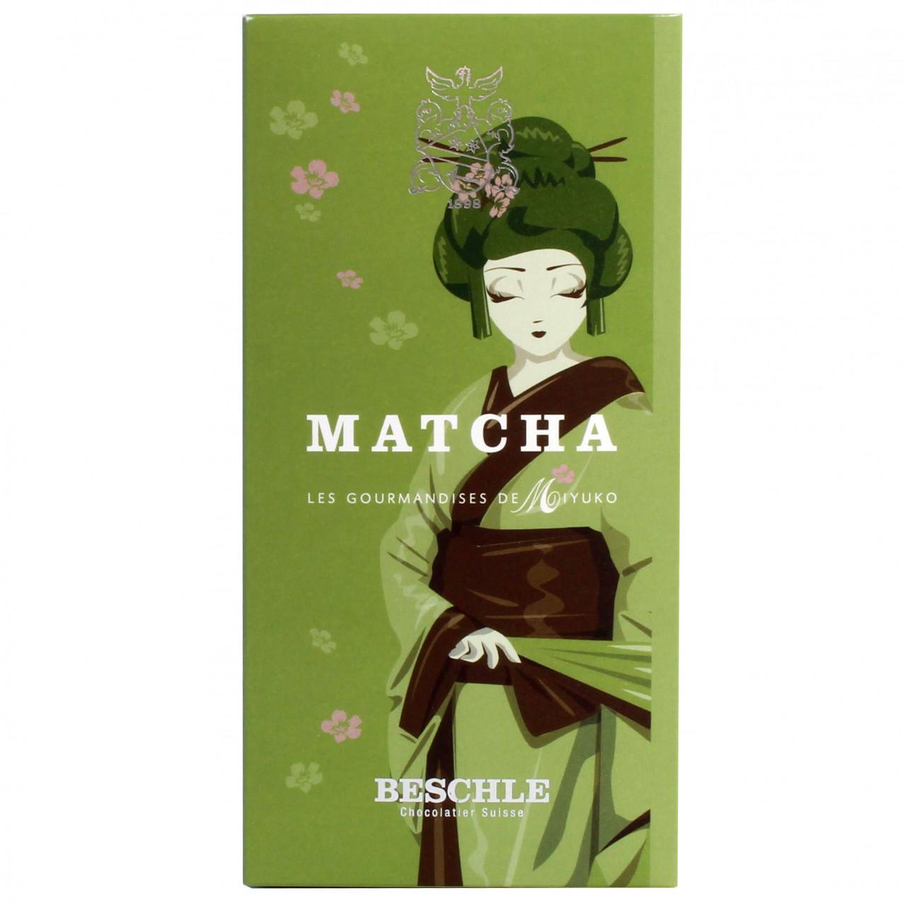 Schokolade mit Matcha Tee, weisse Schokolade, Joghurt Schokolade, Schweiz, schweizer Schokolade - Chocolate with Matcha - Chocolats-De-Luxe