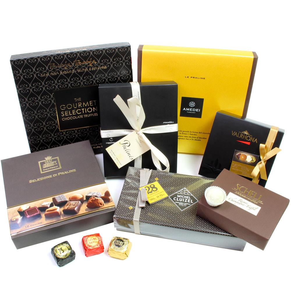 Pralines, bonbon au chocolat, truffes, truffles, Champagnertrüffel, Chocaviar, Nougat