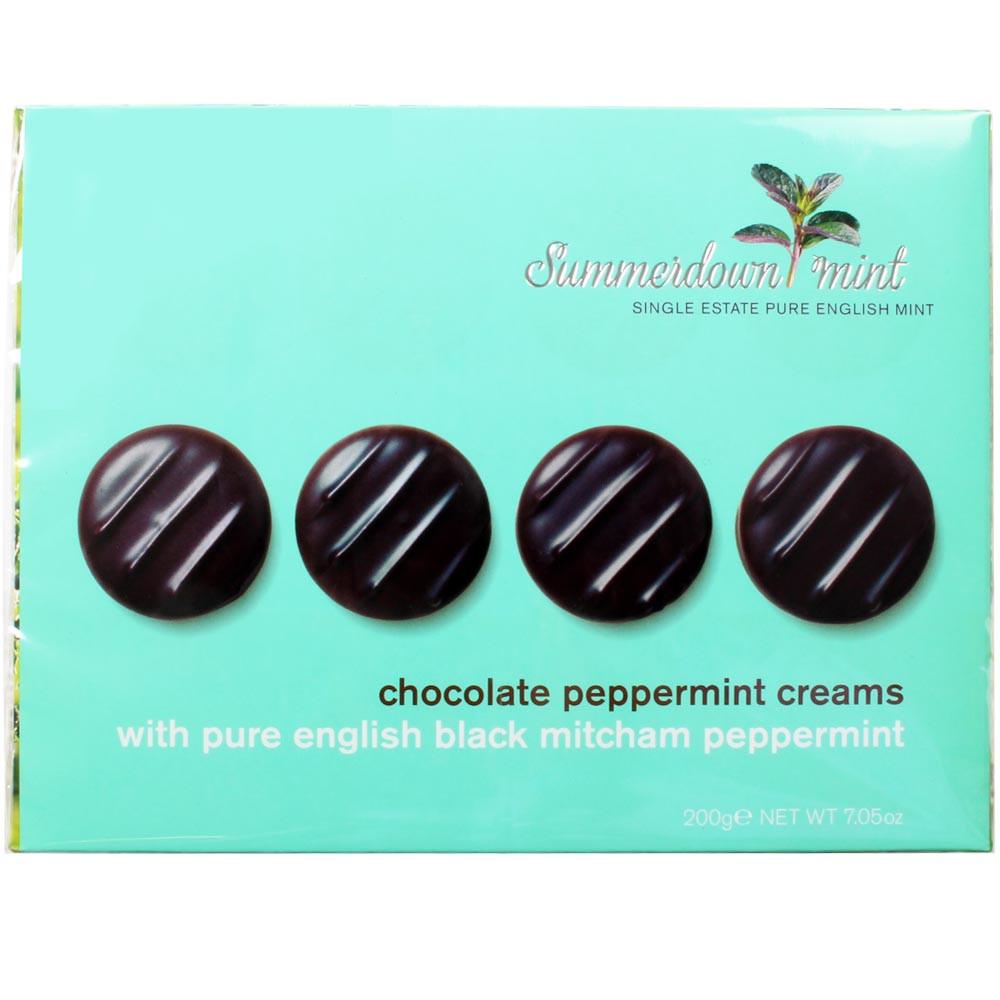 menthe, mint, Minze, dark chocolate, chocolat noir - Napolitains, Inghilterra, cioccolato inglese, Cioccolato con menta - Chocolats-De-Luxe