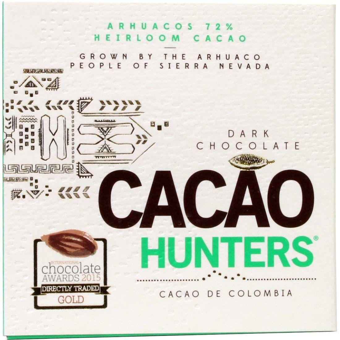 Cioccolato fondente al cacao Arhuacos 72%